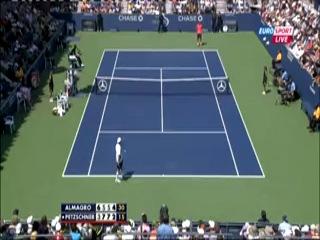 US Open 2012. 2-й круг. Николас Альмагро (Испания) -Филипп Пецшнер  (Германия) / Евроспорт