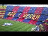 100 тысяч фанатов поют гимн футбольного клуба Барселоны