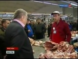 Еврей против Дагестанца (Жириновский беседует с продавцом на рынке)