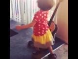 Eli dancing to La Sonora Dinamita