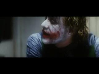 Темный рыцарь - допрос Джокера Бэтменом. Лучшая роль гениального Хита Леджера