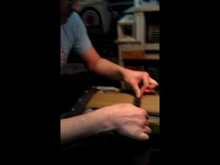 Обдирка заготовки ножа
