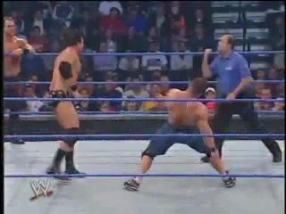 John Cena Chris Benoit VS F.B.I. (WWE SmackDown 01/01/2004)