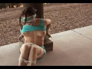 Natasha flade bandana gagged and blindfolded