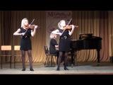 Вивальди концерт ре минор для двух скрипок, В.Биберган-Ария (Костюк Аня, Уланова Алина)