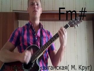 Видеоразбор песни М. Круга-цыганская (исп. А. Толошманов)