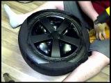 Оклейка дисков в пленку под карбон