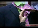 Как завязывать галстук. Диагональный узел
