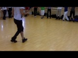 Dadinho Jefferson - Men Style workshop. Zouk RnB basic step -syncopation (with music)