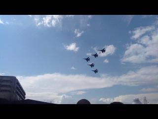 Выступление групп высшего пилотажа - СУшки и МИГи (07.07.13)_11