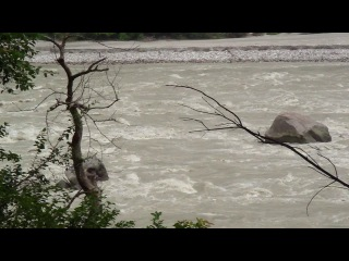 Ганга, сезон дождей, Ришикеш, июль 2013