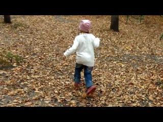 Хания гуляет по парку в Пензе.