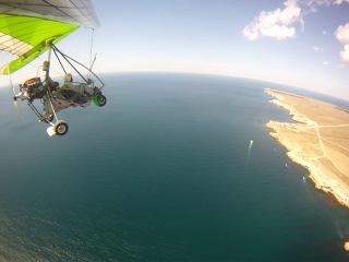 Полёт на дельтаплане над побережьем Крыма (мыс Тарханкут, Чаша любви, с.Оленёвка)