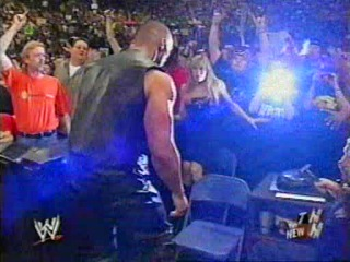 The rock interupts hurricanes match raw 3/17/2003