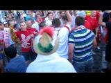 Дуель фанатов Польша vs Испания