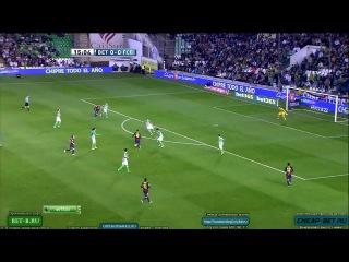 Реал Бетис - Барселона  09/12/2012. 85 гол Месси в 2012 году