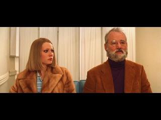 Билл Мюррей и Гвинет Пелтроу. Сцена из кинофильма режиссера Уэса Андерсона(Wes Anderson)