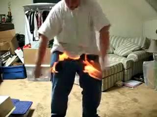 Трюк с огнём xD