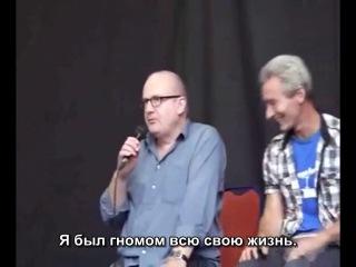 Джед Брофи, Уильям Кирчер и Питер Хэмблтон на Armageddon Expo в Крайстчёрче (rus sub)