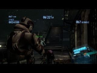 Геймплей Resident Evil 6(Режим - Наемники - Дуэт, персонажи - Агент и Шерри, карта - На Крышах).