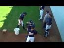 NY Yankees catchers practice