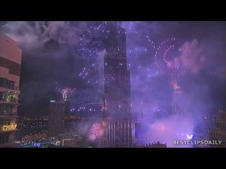 Новогодний фейерверк в Дубаи попал в Книгу рекордов Гиннеса 2014 Fireworks Burj Khalifa, Dubai
