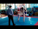 Моя доча,Чемпионат Казахстана по таэквондо WTF,город Чимкент,1 бой