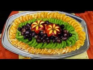 Карвинг. Идеи несложной фруктовой сервировки стола