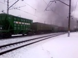 Паровоз Л2331 на станции Тушино.