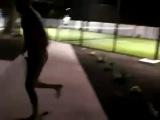 Naked guy runs into a glass door - STREAKER FAIL