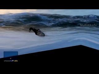 GTA V. Нападение акулы, опасные воды