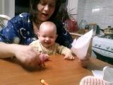Семен смеется)) заразительный детский смех