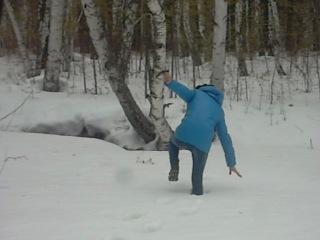 в лесу)) упала и встать не могла :*
