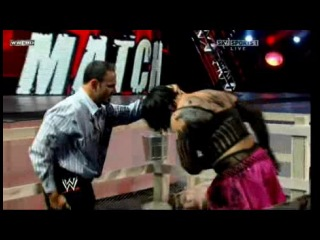 [WM] WWE Extreme Rules 2009 - Santina Marella vs Vickie Guerrero and Chavo Guerrero (Handicap Hog Pen match for the title of