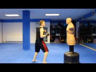 Тайский бокс,Тхэквондо.Техника ударов кик боксинг!