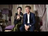 Равшана Куркова и Илья Бачурин backstage со съемки для Glamour