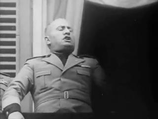 Муссолини корчит рожи:) Михаил Ромм.