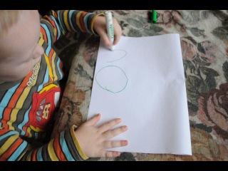 Егорка рисует машинку!