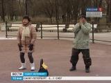 Канал Россия о нашей Зарядке! в Таврическом саду (12.01.14)
