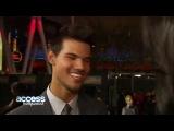 Twilight Breaking Dawn - Part 2 Premiere- Taylor Lautner Talks Fan Madness