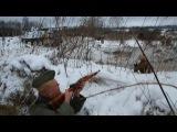 Кусочек из нарезки прорыв блокады Ленинграда реконструкция боя 26 января 2014 Гостилицы