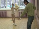 Академия СК Балета. Урок балета (уровень 1). Кружальская Ангелина, Нечаев Дмитрий. Rond de jamb par terr