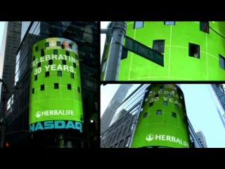 Брэнд Гербалайф по всему Тайм Скверу (Нью-Йорк,США)- 2010