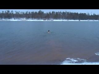 Мое купание зимой 6.12.2013