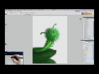 Урок рисования на планшете. Рисуем гусеницу.