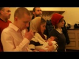 Крещение моей внученьки Настеньки в Александро-Невской Лавре. 13 января 2013 г.
