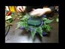 уроки флористики (композиция из хризантем)