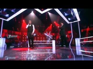 Павел Пушкин и Артур Васильев - Con te partiro (Голос на первом)