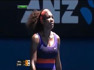Australian Open 2013 / 1/4 финала / Серена Уильямс (США) - Слоан Стивенс (США)