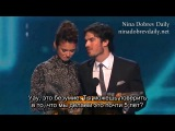 Ian Somerhalder & Nina Dobrev win People's Choice for Favorite On-Screen Chemistry (rus sub)